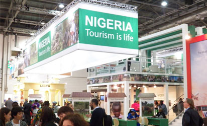 File photo: Nigeria's stand at a tourism fair