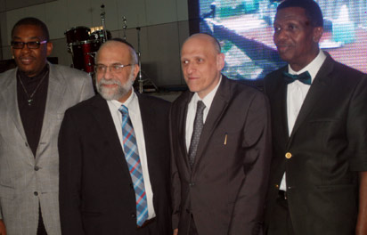 From right; General Overseer of Redeemed Christian Church of God, RCCG, Pastor Enoch Adeboye, Conference of European Rabbis, Mr. Philip Carmel, Chief Rabbi of Geneva, Dr. Izhak Dayan and Special Adviser to CAN President on Anti-Terrorism, Rev. Ladi Thompson during the first International Conference on the Establishment of the United Nations Conflict Mediation Commission, held on Tuesday at Youth Centre of RCCG, Lagos-Ibadan Expressway. PHOTO: Kehinde Gbadamosi.