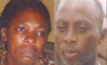 The widow, Mrs. Blessing Oghagbon and her late husband, Kingsley