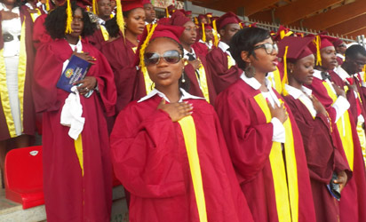 A cross session of Littoral University students during matriculation.