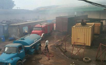 NAFDAC warehouse, Saturday. Photo: Sola Ogundipe