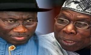 President Jonathan and former President Obasanjo