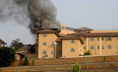 Obasanjo's house in Abeokuta.