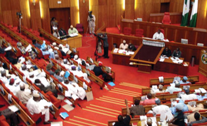 David Mark presiding over Senate plenary
