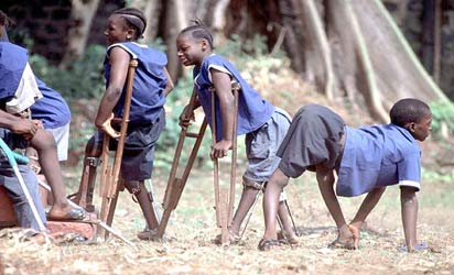 Polio kids victims
