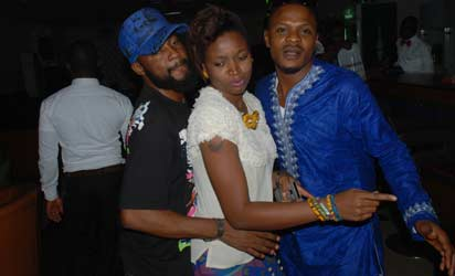 Some members of the Abuja Chapter of the Actors Guild of Nigeria at the After Party held at the TKlez Lounge, Hotel De Bently, Abuja to mark the nationwide wide film screening tour recently