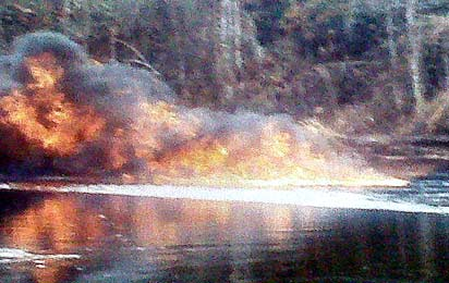 The pipeline fire at Arepo caused by activities of vandals ...