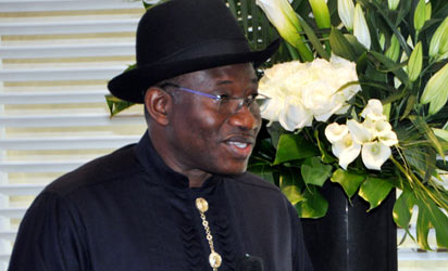 President Goodluck Jonathan addressing the inaugural meeting of Presidential Eminent Persons Group on Agriculture in Geneva on Tuesday (22/1/13)