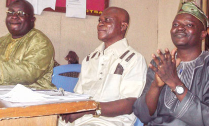 From right: Dr. Yinka Alawode, Ag. Head, Department of Broadcasting, LASUAASOC; former HOD, Dr. Akin Sofoluwe and Dr. Ridwan Akinyemi of Department of Public Relations and Advertising at the 2013 LASUAASOC Departmental Seminar Series.