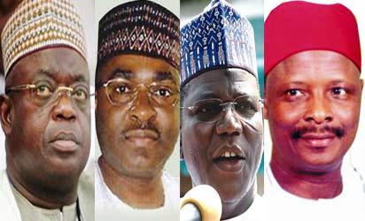 Governors Aliyu, Yuguda, Lamido and Kwa