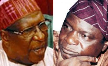 PDP National Chairma, Alhaji Tukur and sacked National Secretary, Oyinlola