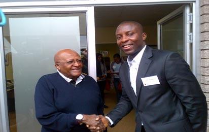 *Archbishop Desmond Tutu  (I) with 'son'