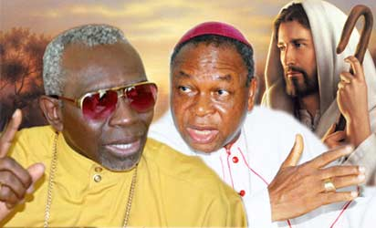 CAN president, Pastor Ayo Oritsejafor and Cardinal Onaiyekan