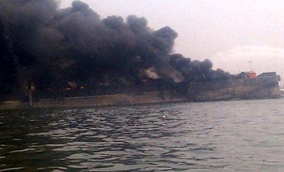 *The burning ship