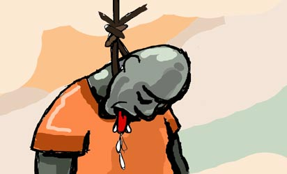 Commercial cyclist to die by hanging over missing NYSC ... Suicide Hanging Cartoon