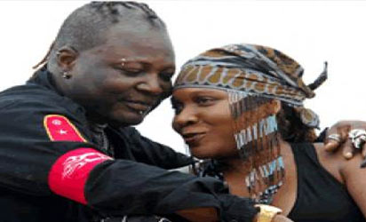 Charly Boy and wife