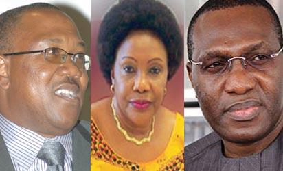 Gov Peter Obi, Sen. Joy Emodi and Sen Andy Uba
