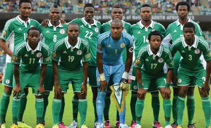 Nigerian players pose prior to the 2013 African Cup of Nations semi-final football match Mali vs Nigeria AFP PHOTO