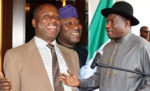 President Goodluck Jonathan and Ameachi