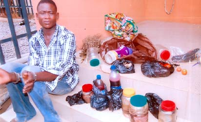 The suspect, Kunle Olaide and the human parts.