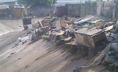 demolished structures...