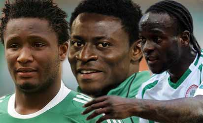 Mikel, Martins and  Moses
