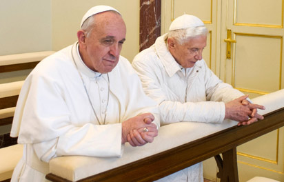 Pope Francis and his predicessor