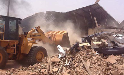 Terrorists' alleged hideout in Sokoto demolished by the security forces Wednesday