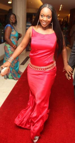 Best Actress winner Jackie Appiah on the AMVA awards red carpet