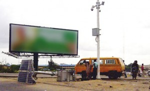 The destroyed Lagos Close Circuit Television, CCTV