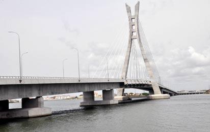 Newly Bridge, During the Commissioning of Lekki-Ikoyi Link Bridge to Commemorate Democracy day in Lagos. Photo: Bunmi Azeez