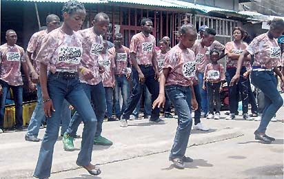 *Obalende youths performing