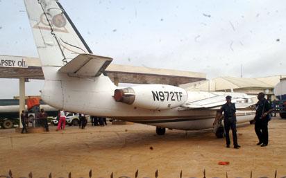 Abandoned aircraft at Igando