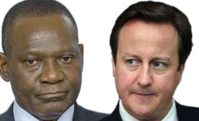 Gbenga Ashiru, Foreign Affairs Minister and Prime Minister David Cameron
