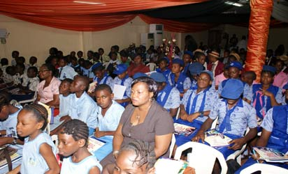 Cross section of school children at the Confab