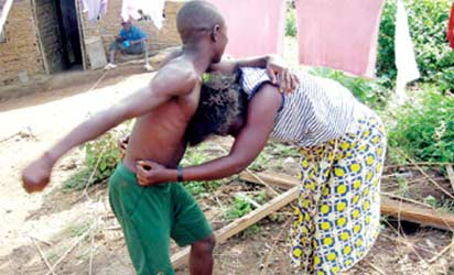 'My wife grabs, twists my testicles during fights'