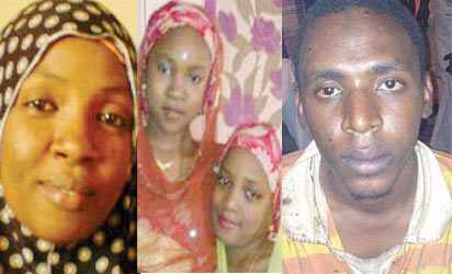 VICTIMS: Mother and daughters and Kawal, the suspect