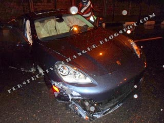 *The damaged Porsche
