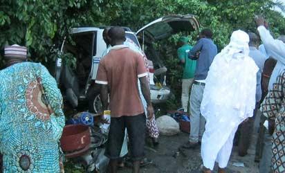 One of the carsin the bush. Photos: Wumi Akinola.