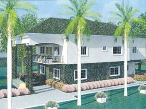 Model of a house in Maccido Royal Estate, Abuja