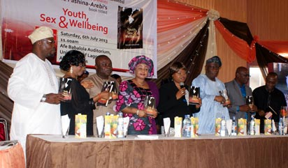 *Lagos State Deputy Governor, Adejoke Orelope-Adefulire (5th from left) with other dignitaries  during the book launch