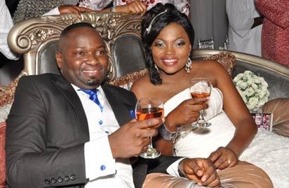 Kayode and Funke on wedding day