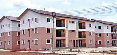 Goodluck Housing Estate, Idimu before completion.