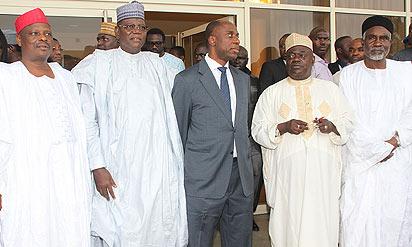 Govs. Mu'azu Babangida Aliyu of Niger, Sule Lamido of Jigawa, Rabi'u Musa Kwankwaso of Kano and Murtala Nyako of Adamawa states,