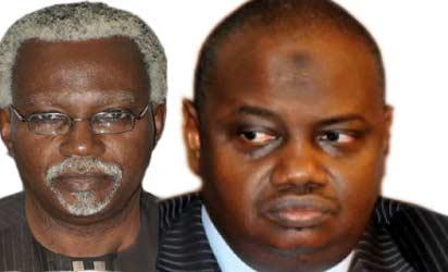 Ekpo Nta ICPC boss and Ibrahim Lamorde EFCC boss