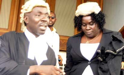 Al- Mustapha s' Lawyers Oluwalekan Ojo and Yinka Ojo at the Court of Appeal Lagos  Photo By Diran Oshe