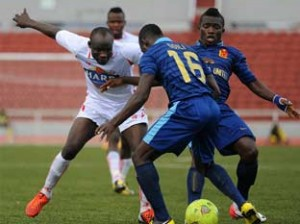 Action recorded during a Nigerian league match