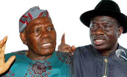 Bisi Akande and Goodluck Jonathan