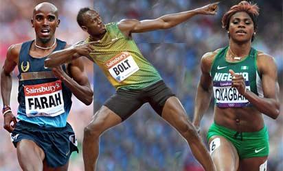 Farah, Bolt and  Okagbare   look to shine