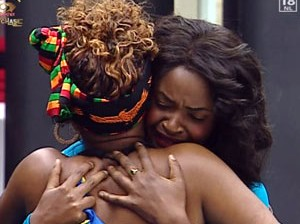 Dillish hugs Cleo in happy tears...
